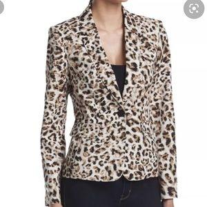 NEW Calvin Klein Leopard Print Blazer size 6